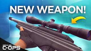 NEW WEAPON IN CRITICAL OPS! C-OPS TRG-22 Sniper Rifle + Gameplay