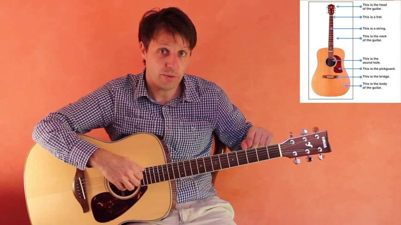 kids 39 guitar adventures lesson 1 parts of the guitar youtube. Black Bedroom Furniture Sets. Home Design Ideas