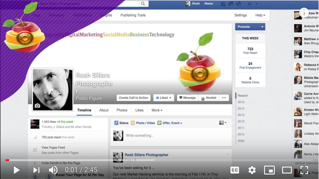 How to change your Facebook business page name