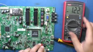 Ремонт ЖК телевизора Philips 42PFL3605/60. Не включается. Неисправность main платы.