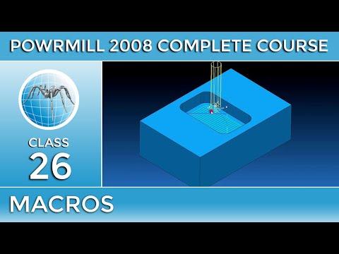 PowerMill Tutorial # 26 - Macros an Amazing Technique - Urdu/Hindi