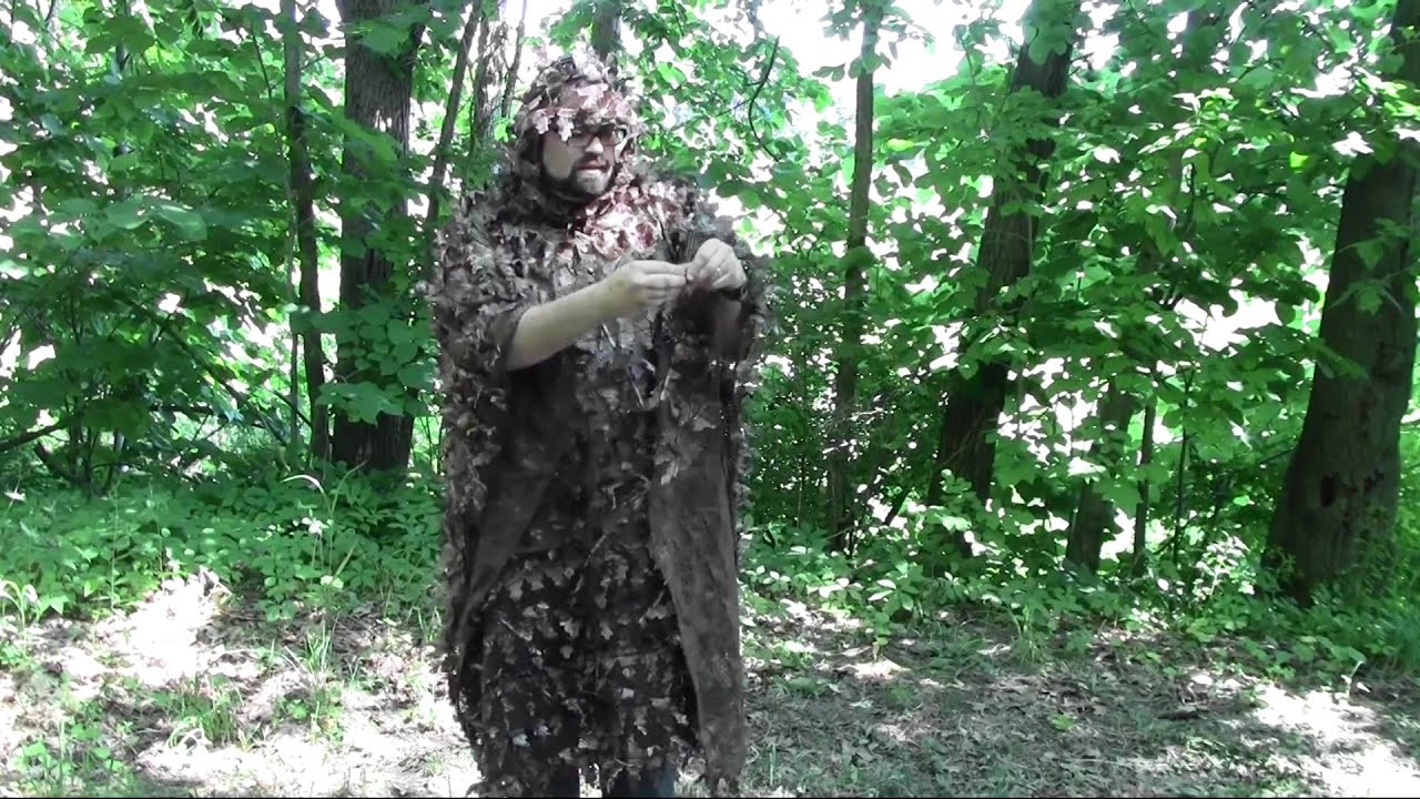 how to make a ghillie poncho