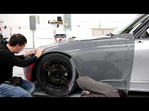 Gloss Dark Gray wrap on Honda S2000