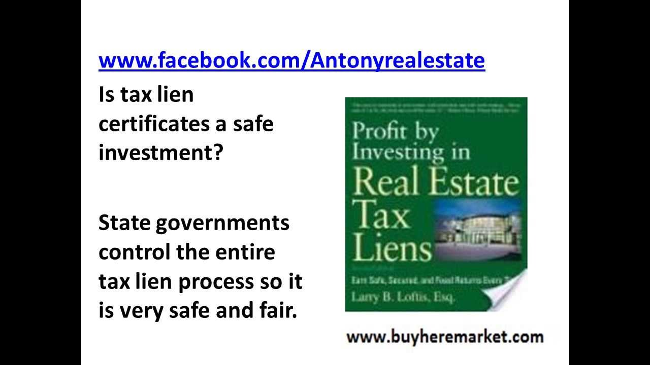 Government Tax Lien Certificates Tax Deed Sales Opportunity To