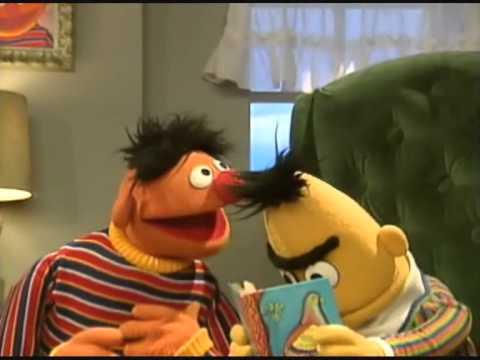 Sesame Street - Ernie is loud while Bert reads