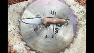 Making a knife from a saw blade