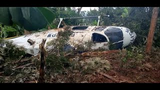 POLICE chopper ferrying security team to Marsabit crash lands at Kaithe Kithoka in Meru.