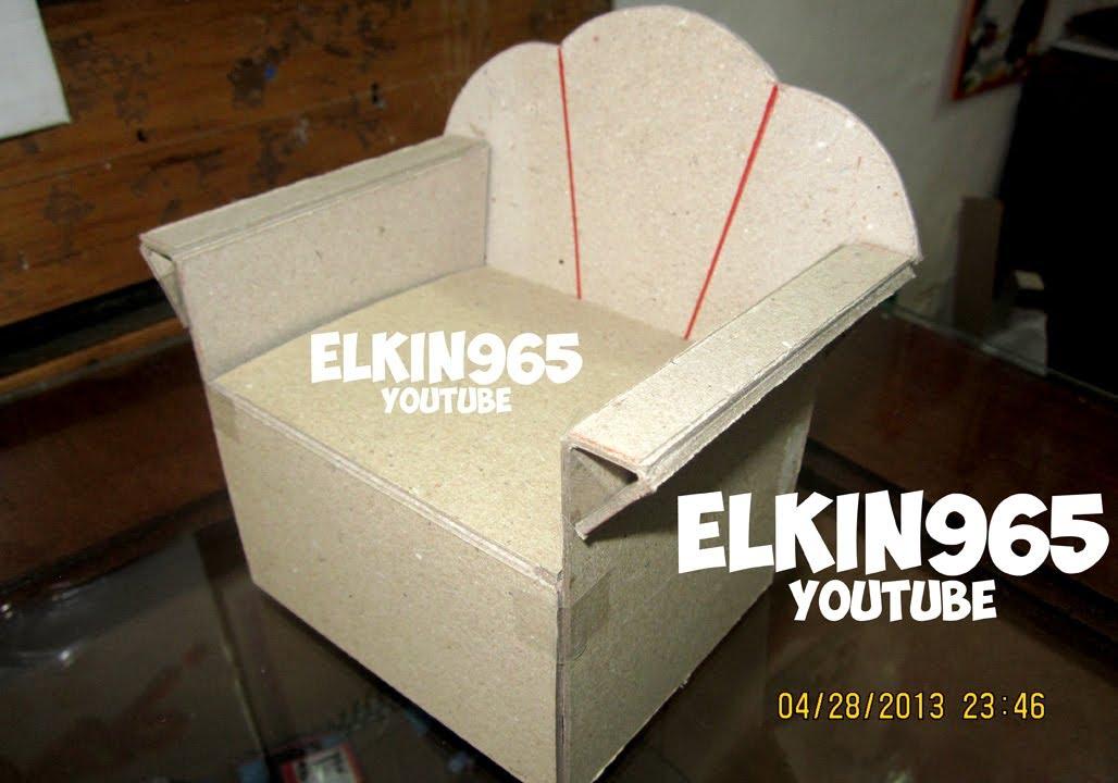 como hacer un mueble en cartn  manualidad 2013  YouTube