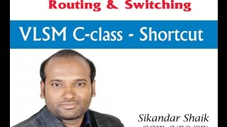 VLSM C-class - Shortcut - Video By Sikandar Shaik || Dual CCIE (RS/SP) # 35012