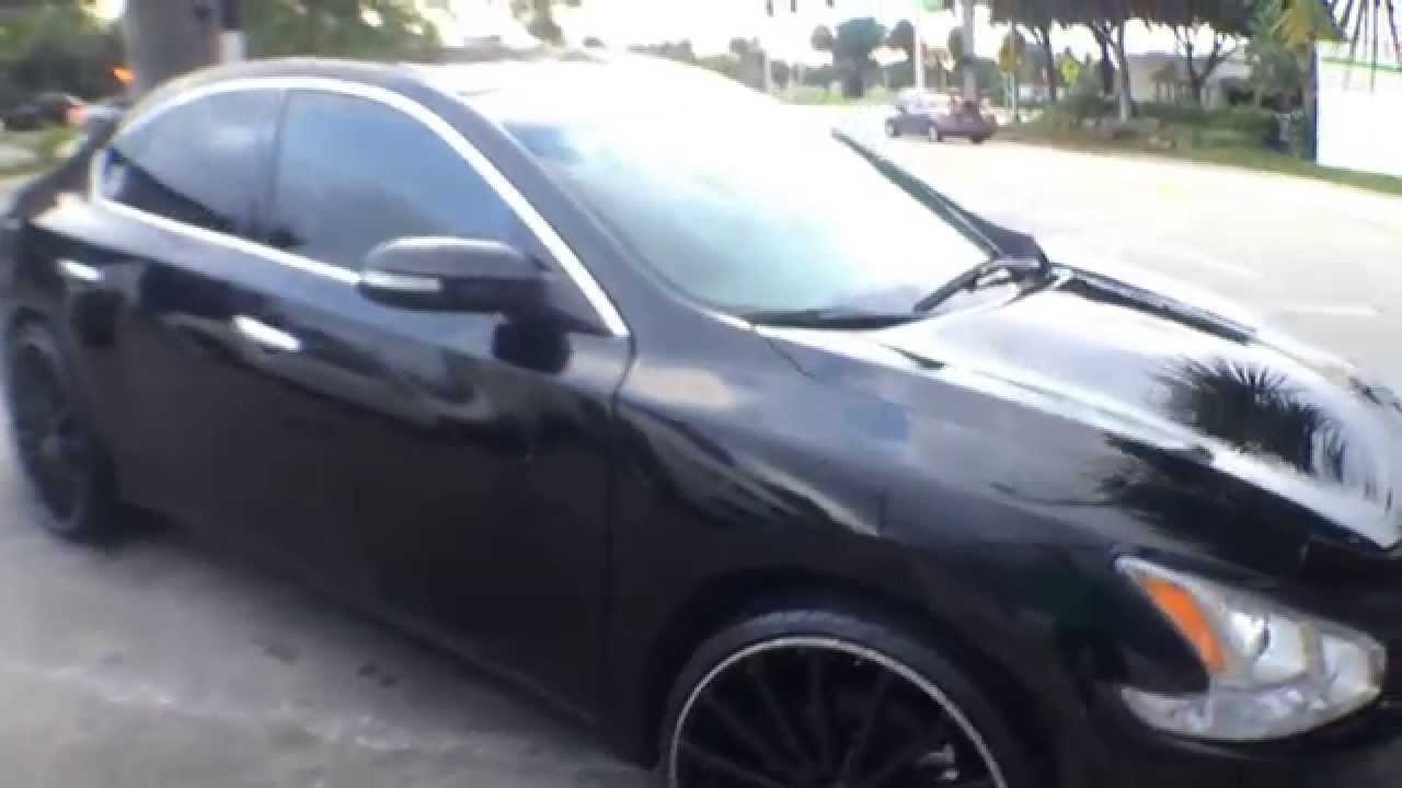 Nissan maxima on 22s honda accord 20s youtube vanachro Images