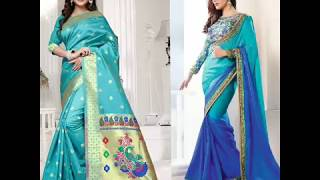 Navratri Day 17-10-2018 ||Beautiful  Sky Blue color All Collection For Womens||