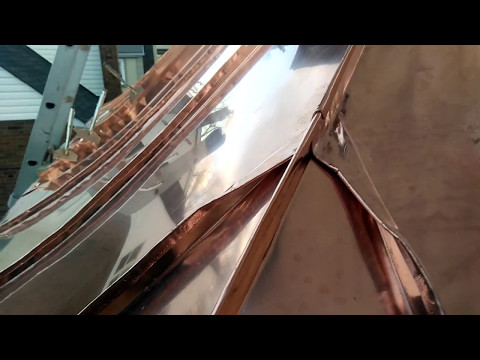 Bay Window standing seam copper roof
