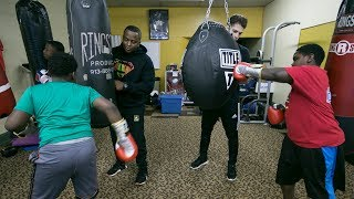 Boxing with cops