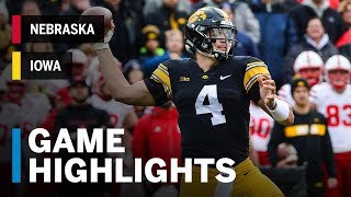 Highlights: Nebraska at Iowa Big Ten Football