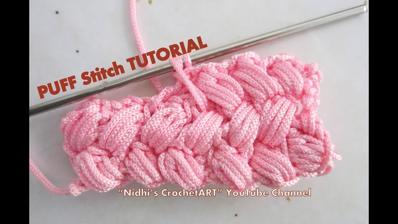 How To Crochet Puff Stitch Border Step By Step Tutorial