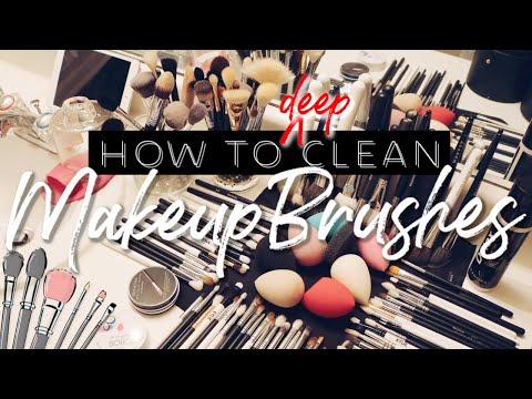 HOW TO DEEP CLEAN MAKEUP BRUSHES 2019 | KAT