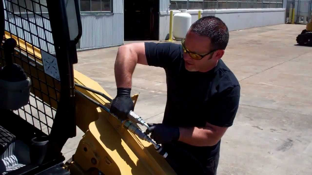 how to release auxiliary hydraulic pressure on a cat 256c skid steer rh youtube com
