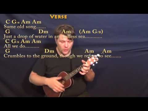 Dust in the Wind (Kansas) Ukulele Cover Lesson with Chords/Lyrics