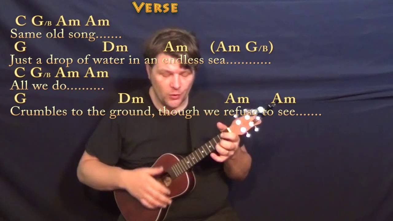Dust In The Wind Kansas Ukulele Cover Lesson With Chordslyrics