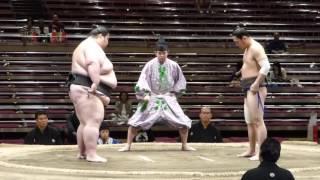 Natsubasho '16 at Kokugikan in Tokyo Sandanme , day 11 (18.05.) (l)...