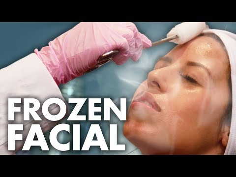 Trying The LIQUID NITROGEN Ice Facial! (Beauty Trippin)
