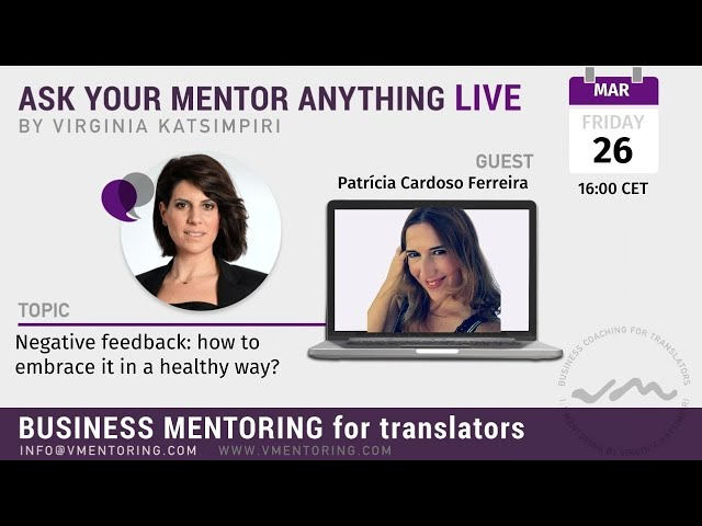 Ask Your Mentor Anything Live with Virginia Katsimpiri FT. Patrícia Cardoso Ferreira