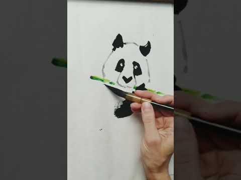 Drawing Panda by Ms Jekaterina, a Latvian artist