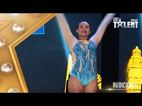 ¡QUÉ ENERGÍA! Esta gimnasta dejó todo en el escenario