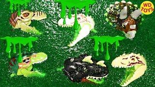 11 Lego Schleim Jurassic Welt Dinosaurier Überraschung Spielzeug Indominus Rex vs T-Rex
