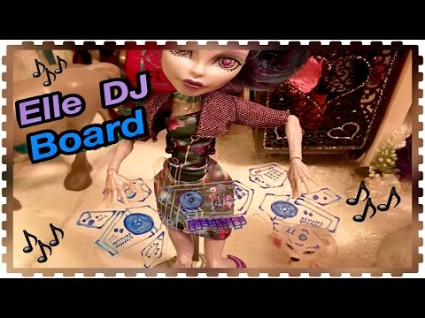 "How to Make an Elle Eedee ""LED"" transparent DJ mixer Board for Doll Display ~ Monster High Boo York"