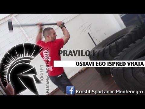 CROSSFIT SPARTANAC - PRAVILO 1 OSTAVI EGO ISPRED VRATA -  SVE PODGORICA & PREGO FASHION