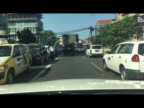 Driving to Work in Yangon-- 9 am real time