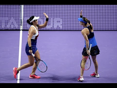 2017 WTA Finals Doubles Quarterfinal | Hingis/Chan vs. Peschke/Groenefeld | WTA Highlights