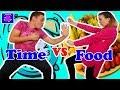 Time vs Food Challenge   Timpul Împotriva Mâncării  