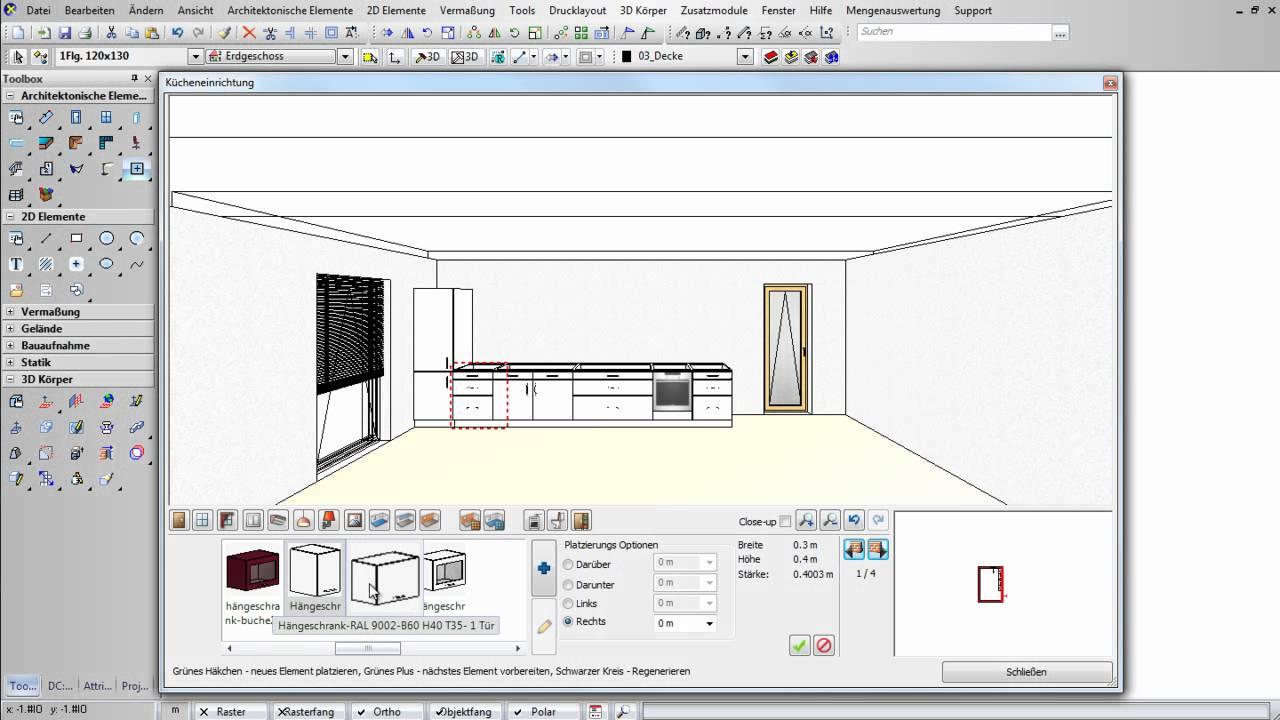 raumdesigner k che youtube. Black Bedroom Furniture Sets. Home Design Ideas