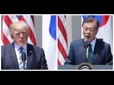 President Donald Trump SHOCKS President Moon of South Korea at the Free Trade Ceremony