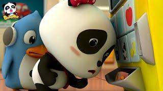 自動販売機をこわしちゃった!どうしよう? | しどうはんばいき | 赤ちゃんが喜ぶアニメ | 動画 | BabyBus thumbnail
