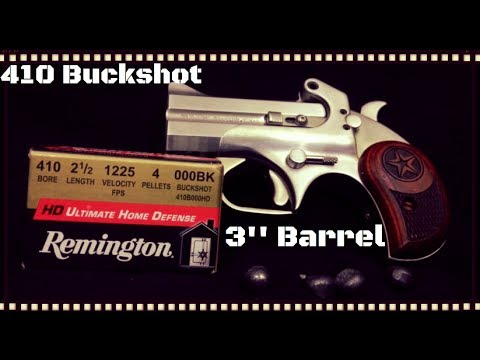 Remington HD .410 000 Buckshot & Bond Arms Ballistics Gel Test (HD)