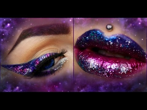 LEARN THE TRICK: EASY GALAXY Eye & Lip Art Tutorial