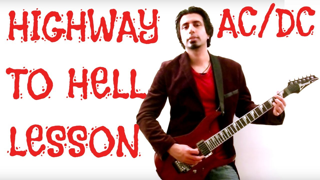 highway to hell guitar lesson with tabs by ac dc youtube. Black Bedroom Furniture Sets. Home Design Ideas