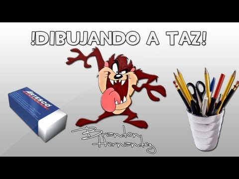 Dibujando Al Demonio De Tazmania (Taz Looney Tunes)