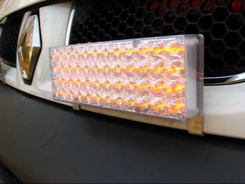 KIT 2 FEUX DE PENETRATION STROBOSCOPE PACECAR LED BLANC