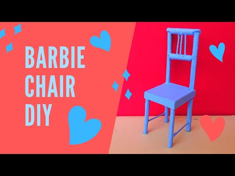 BARBIE CHAIR DIY (only wooden sticks & paper)