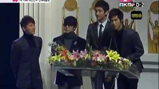 DBSK received Best Popular Artist at Korea Entertainment Art Award 2008