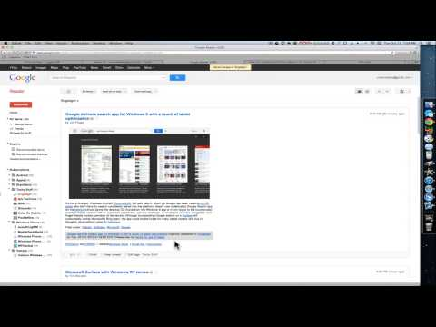 Using RSS Feeds & Google Reader from YouTube · Duration:  6 minutes 4 seconds