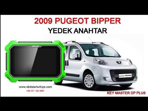 PEUGEOT BIPPER 2009  - YEDEK ANAHTAR - KEY MASTER DP PLUS