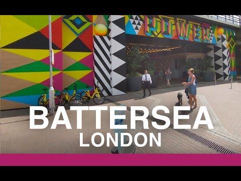 【4K】BATTERSEA, WALKING TOUR - Powerstation to park