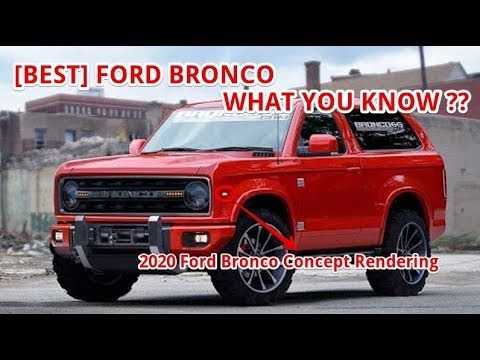 [BEST] 2020 Ford Bronco Concept Rendering