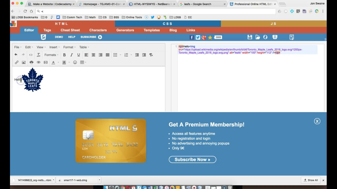 Comm Tech - Using A Visual HTML Editor (WYSIWYG) - Travel Online
