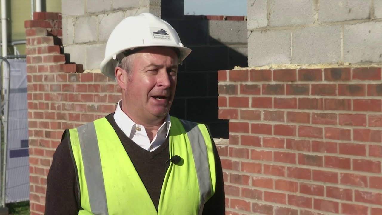 """UK's first"" robot-built home made by automated bricklayer"